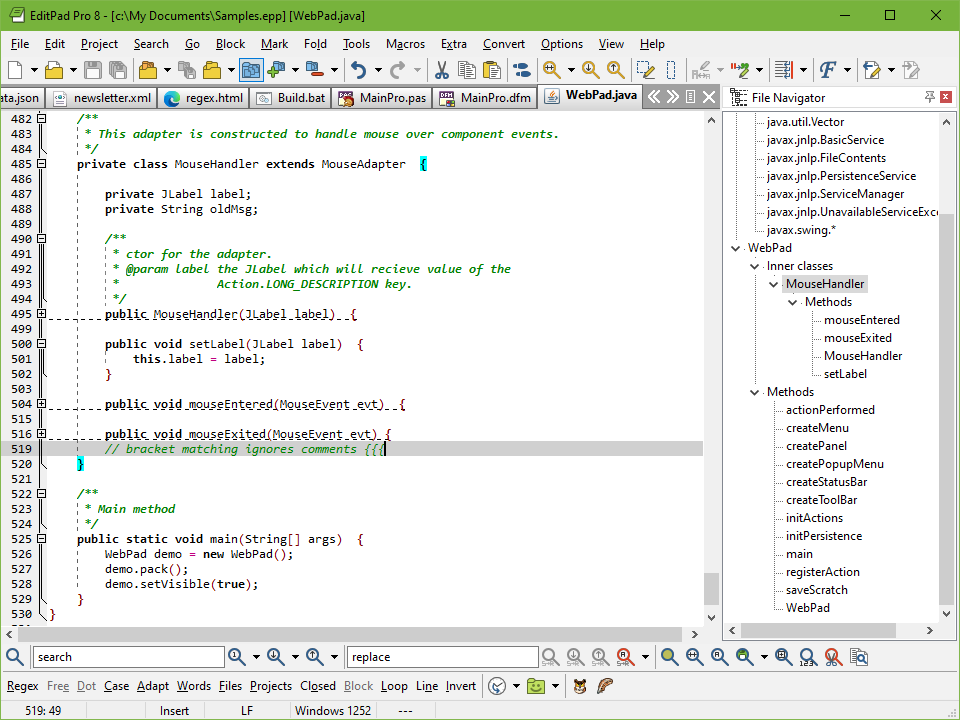 Coder's Editor to Edit Java Source Code