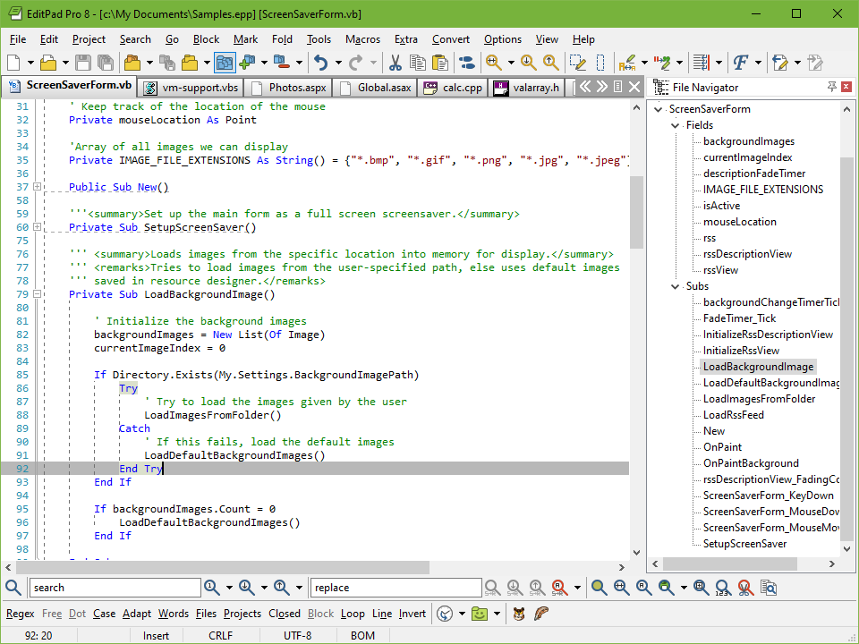 Coder's Editor to Edit Visual Basic Source Code