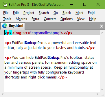 You can make EditPad Pro as small as you like, and hide its toolbar, status bar and side panels.